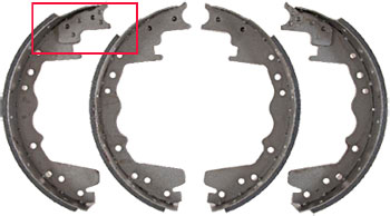 You can see the only major difference on the Brake Shoes for a 1990 Ford F-250 is the length of the friction material