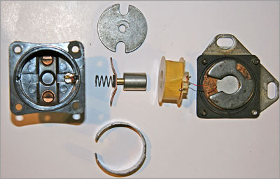 The parts of the solenoid