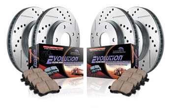 The performance brake upgrade kits include high-performance ceramic brake pads and a complete set of cross-drilled & slotted rotors that will deliver the big brake feel without the big brake price.