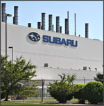 Subaru of Indiana Automotive (SIA) plant in Lafayette, Indiana