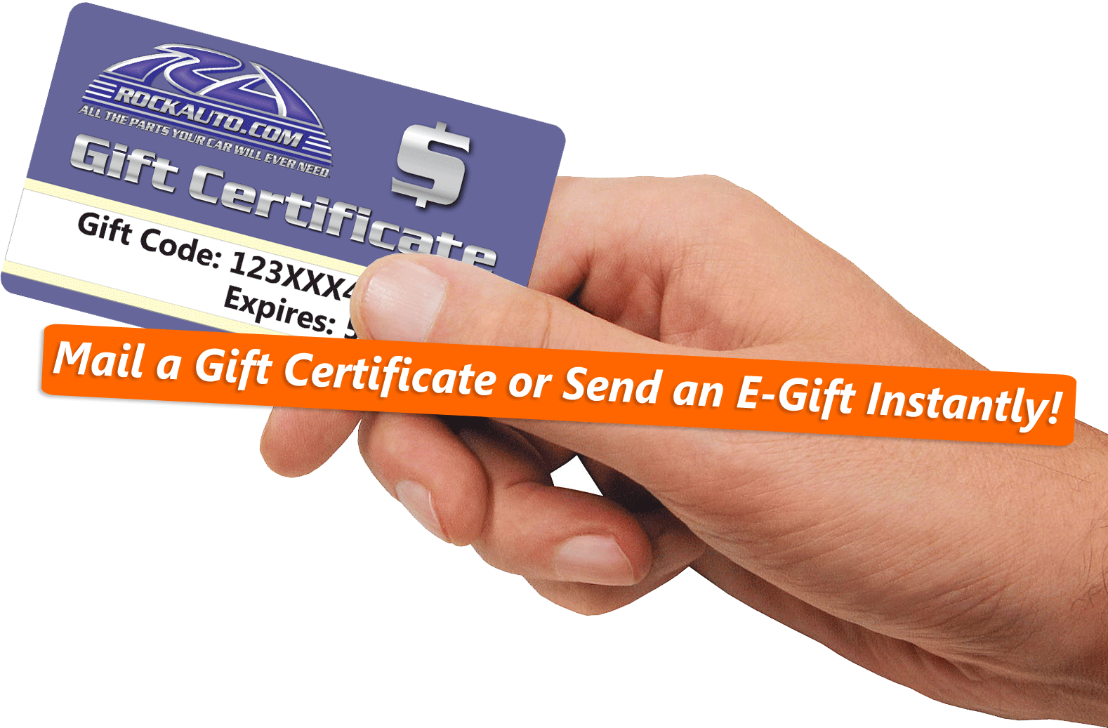 Make your gift giving easy with a RockAuto Gift Certificate