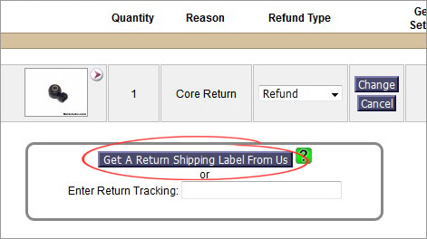 get return label