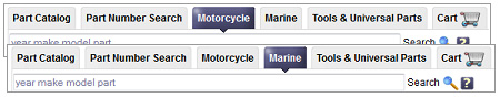 Where are parts for a motorcycle or a boat?