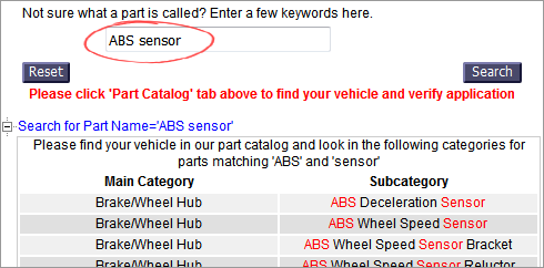 Help with Finding Parts for Your Vehicle