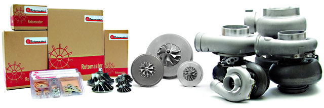 Rotomaster replacement turbochargers and turbocharger parts
